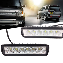 1pc Car Styling 18W LED Bar Work Light Barra DRL 12V Spotlight Flood Driving Fog Light Offroad for Jeep Toyota SUV Boat Truck