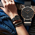 HOTIME Brand Unisex Popular Elegant Simple Design Nylon Strap black dial Daniel Style watch Fashion Casual Quartz Wristwatch
