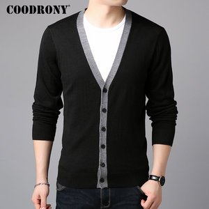 Image 1 - COODRONY Sweater Men Casual V Neck Cardigan Men Clothes 2018 Autumn Winter New Arrivals Knitted Cashmere Wool Mens Sweaters 8258