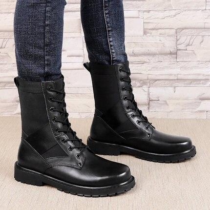 Hombres Black Aire Militares Transpirables De Bota No Cuero black Ejército Zapatos Botas Los Fur Táctico Al Genuino Del Desierto Invierno Fur {zorssar} Libre 2018 xqPHwH