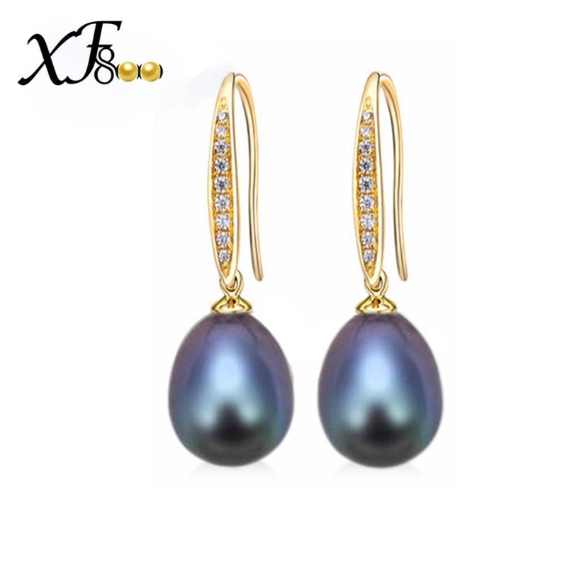 [XF800] Pendientes de perlas Cultivadas Perlas de agua dulce - Joyas
