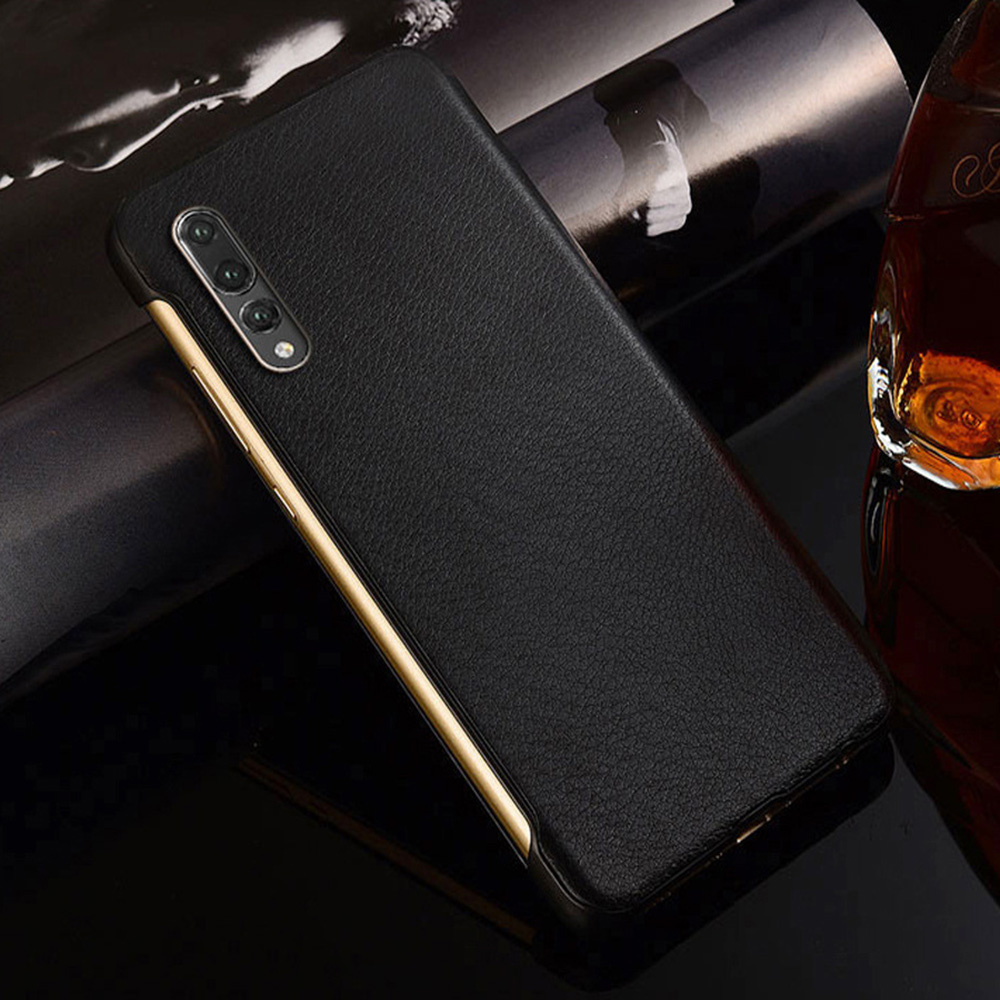 PU Leather Hard Window View Flip Case for Huawei P10 P20 P30 Pro lite Mate 20 Lite Mate 30 Pro 1