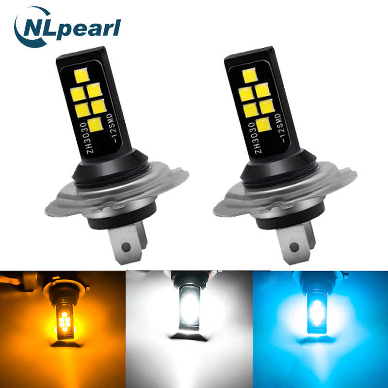 NLpearl 2x H11 Led 3000K Car Fog Lamp H1 H3 Led H7 9005 HB3 9006 HB4 H9 H8 Led Canbus 3030SMD 6000K 8000K Driving Running Light
