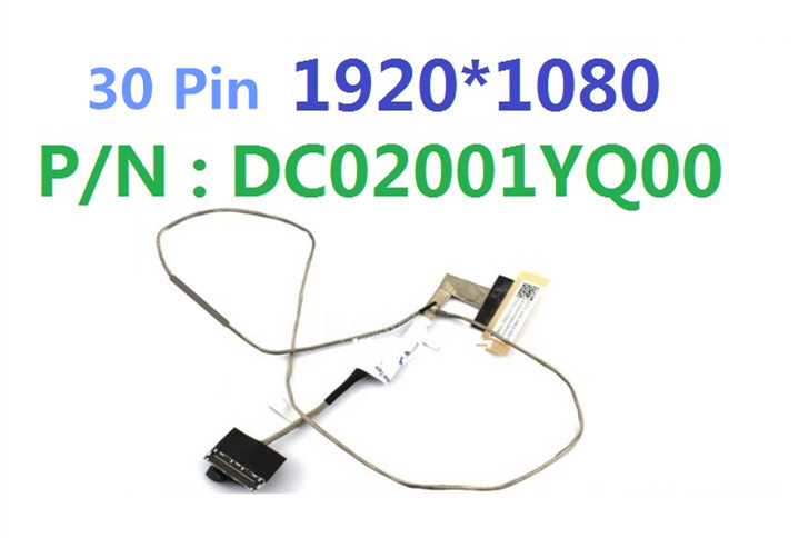 LAPTOP LVDS CABLE FOR LENOVO Y50 Y50-70 Y50-80 DC02001YQ00 genuine new and original cable for lenovo y50 y50 70 zivy2 lcd flex cable dc02001yq00 flat cable non touch 30 pin cable