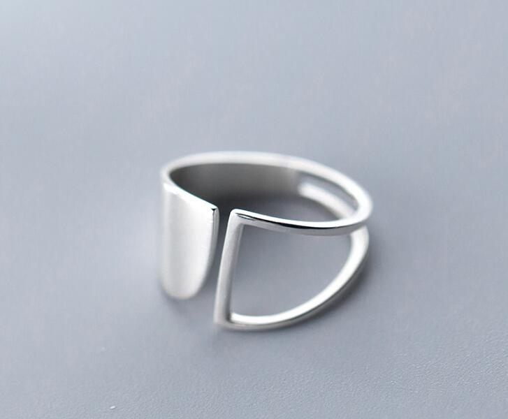 13mm 100% Authentic REAL.925 Sterling Silver Fine Jewelry hollow &Plain Irregular Geometric Band Wider Long Rings GTLJ1540