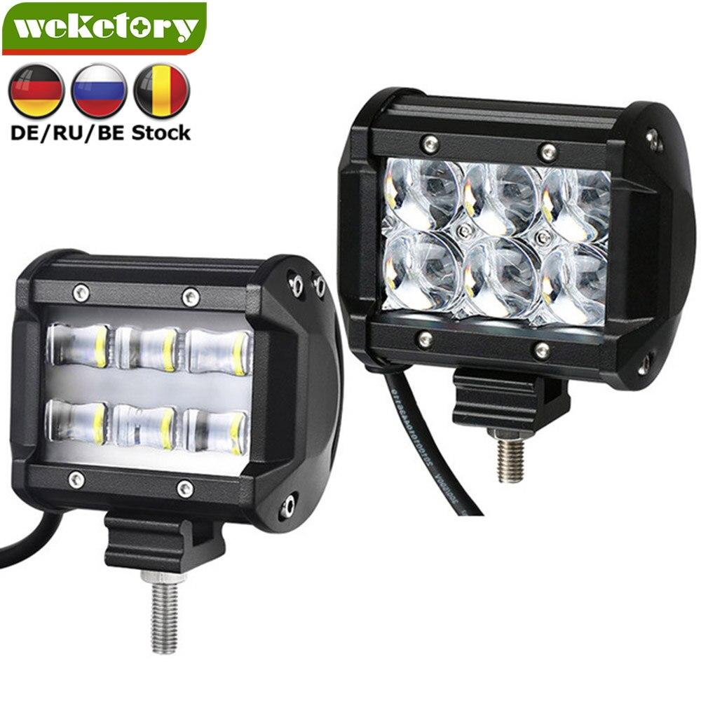 Weketory 9D 5D 4 pulgadas 30 W LED Barra de luz de trabajo para Tractor Boat OffRoad 4WD camión 4x4 SUV ATV