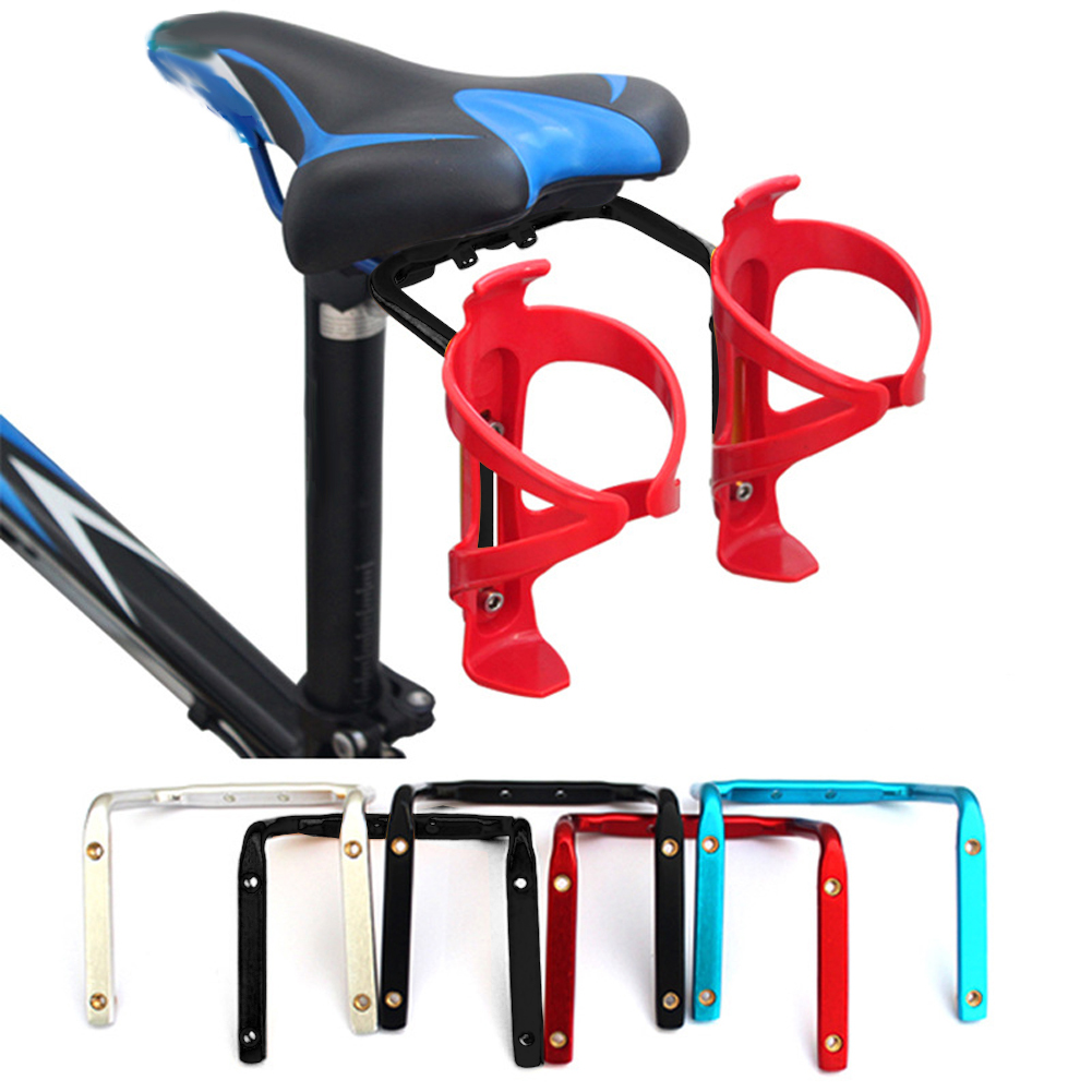 Bicycle Aluminum Cycling Rear Mount Saddle-Rail Bracket For 2/double Water Bottle Cages holder Triathlon Made In JapanBicycle Aluminum Cycling Rear Mount Saddle-Rail Bracket For 2/double Water Bottle Cages holder Triathlon Made In Japan