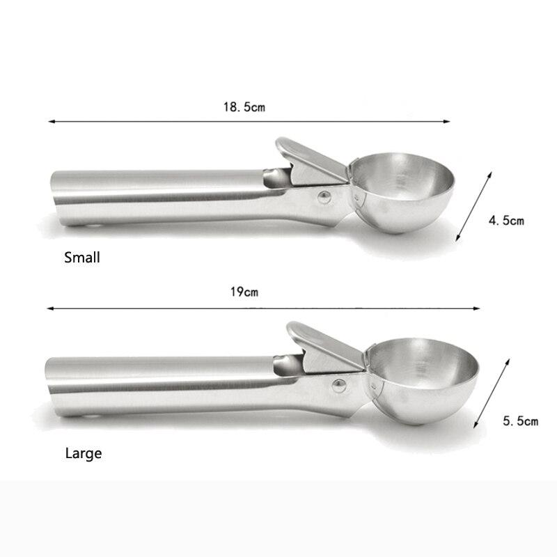 Kitchen Tools Stainless Steel Ice Cream Scoop Metal Cookie Scoop Spoon Melon Baller Fruit Ice Ball Maker Scooper For Ice Cream 3