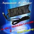 19.5 v 3.34a 7.4*5.0mm 65 w substituição para dell pa-12 inspiron 1410 1420 6400 n4010 laptop ac power adapter carregador frete grátis