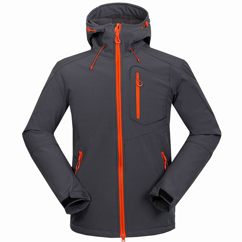 2019 New Arrive Men's Soft shell Jacket Fleece Warm Sportswear Waterproof Outdoor Male Traveling Hiking Mountain Climbing Jacket