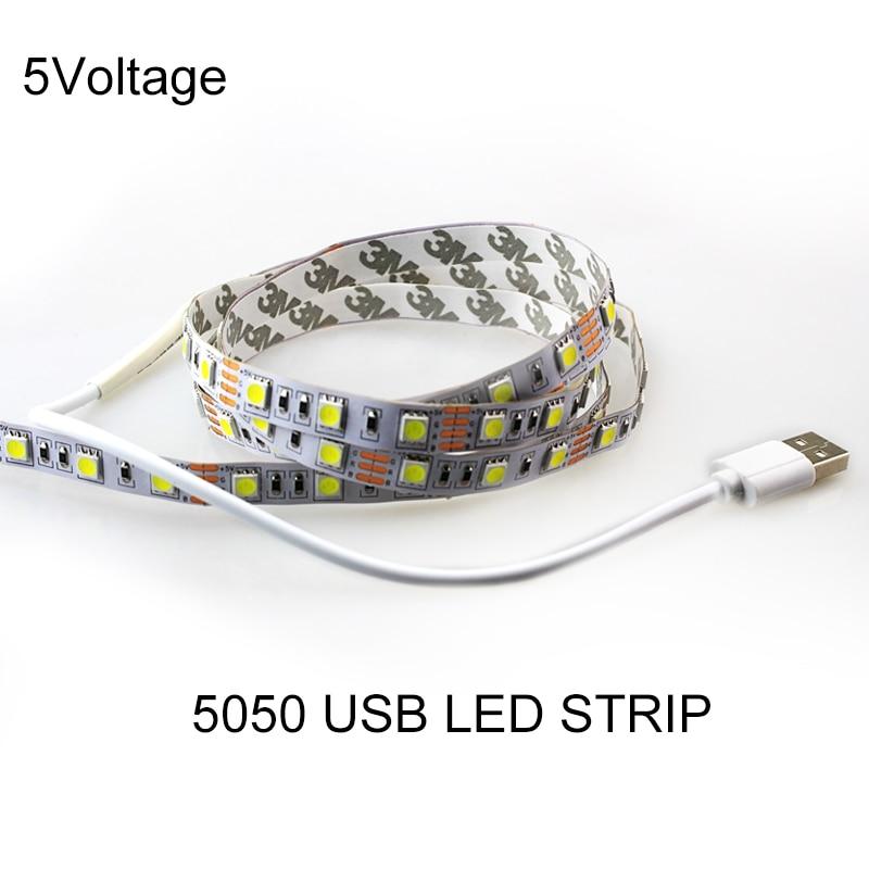 1M / 2M / 3M / 5M USB vodio traku svjetla 60leds / m DC 5v 5050 SMD - LED Rasvjeta
