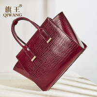 Fashion Women Bags handbags Genuine Leather Wine Red Female Shoulder Bag Crocodile Ladies Elegant Handbag for Womens bolsa
