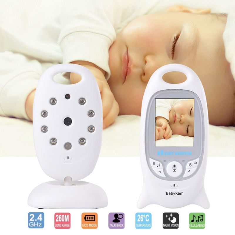 BabyKam Wireless Video Baby Monitor 2.0 inch LCD Bebe Monitor with IR Nightvision Intercom Lullabies Temperature Indicator