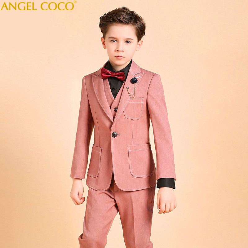 Gentleman Wedding Kids Children'S Suit Boys Blazer Suits For Boys Suits For Weddings Boys Clothing Blazer Clothes For Teenagers elk print pattern boys clothing blazer catwalk children s piano costumes hosted clothes thick winter boys suits for weddings set