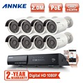ANNKE 8CH 1080P HD Network PoE CCTV Security System 8pcs 2.0 MP IP Cameras Outdoor NVR  video surveillance Kit 2 years warranty