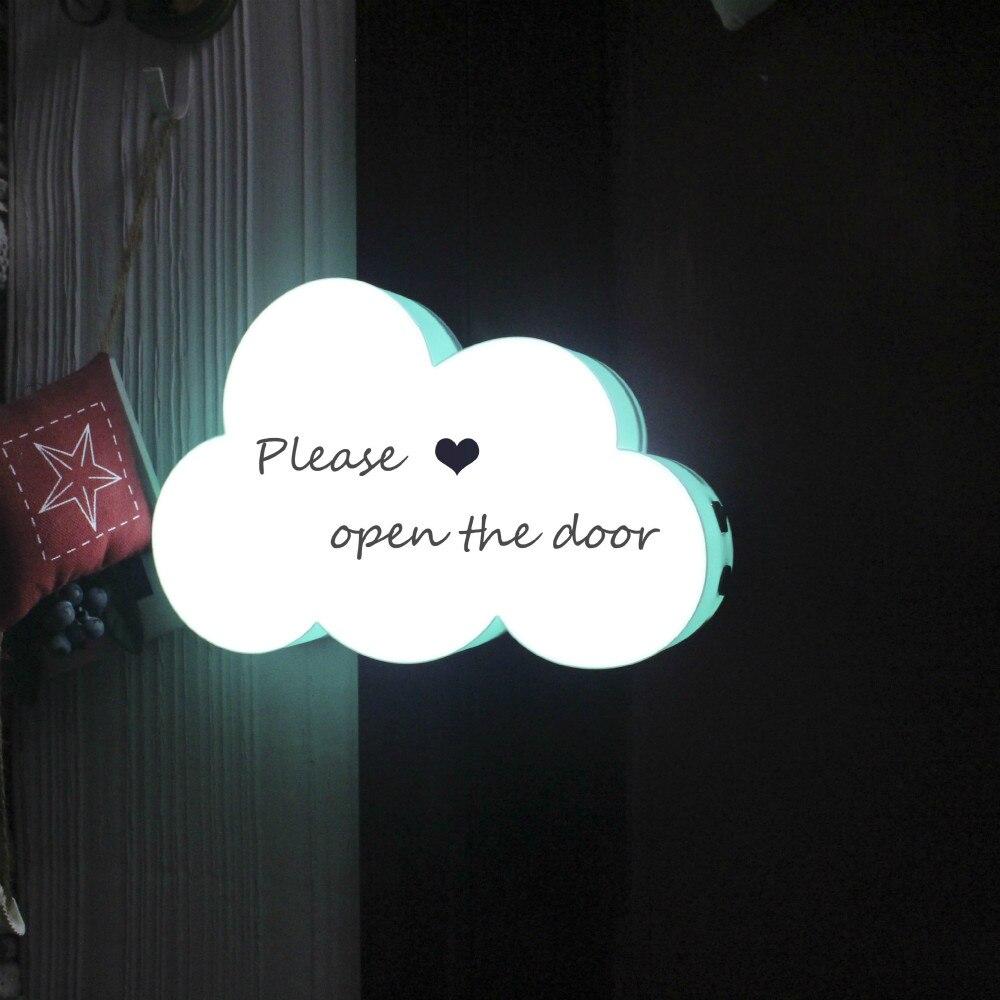 Jiderui светодиодный Home Decor настольные лампы DIY почерк облако Форма светло-коробка с тремя-Цвет записи-ручка для маленьких детей сувениры