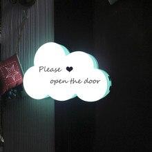 Jiaderui Jiderui LED Home Decor Table Lamps DIY Handwriting Cloud Shape  Light Box