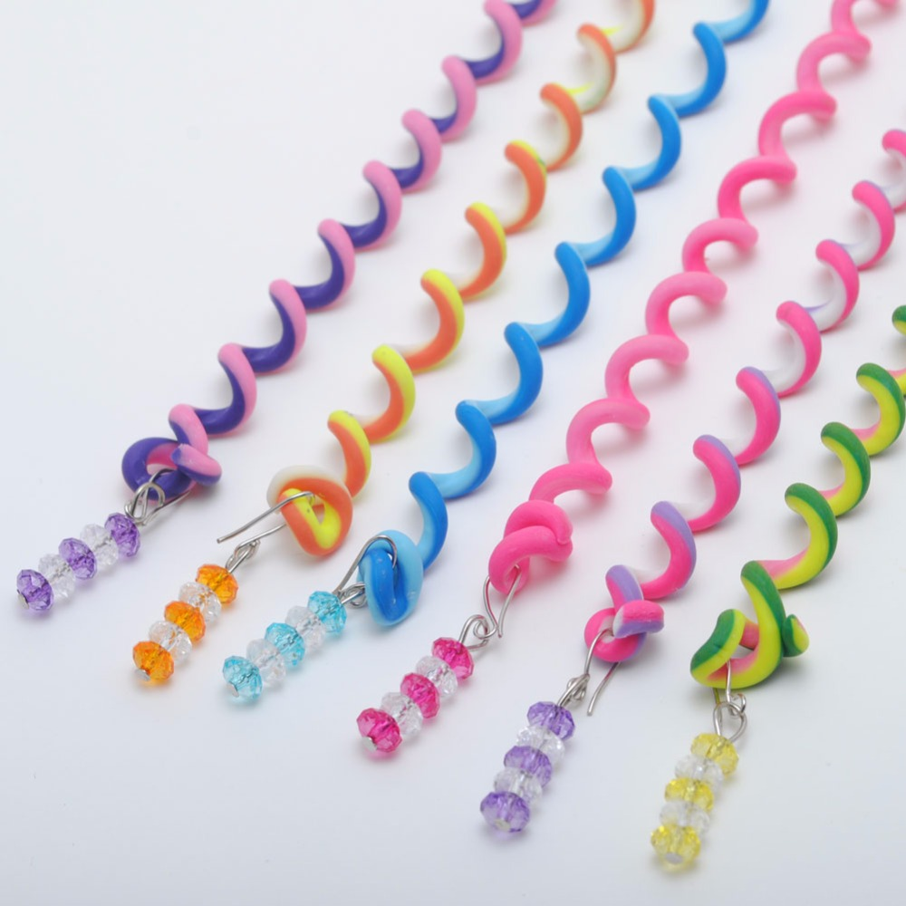 6PCS/lot Rainbow Color Headband Cute Girls Hair Band Crystal Long Elastic Hair Bands   Headwear   Hair Accessories Random Color