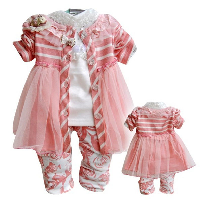 ФОТО Anlencool Free shipping brand baby clothes sets three-piece Korean version of the new Winnie baby clothing baby girl clothes set