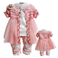 Anlencool Free shipping brand baby clothes sets three piece Korean version of the new Winnie baby clothing baby girl clothes set