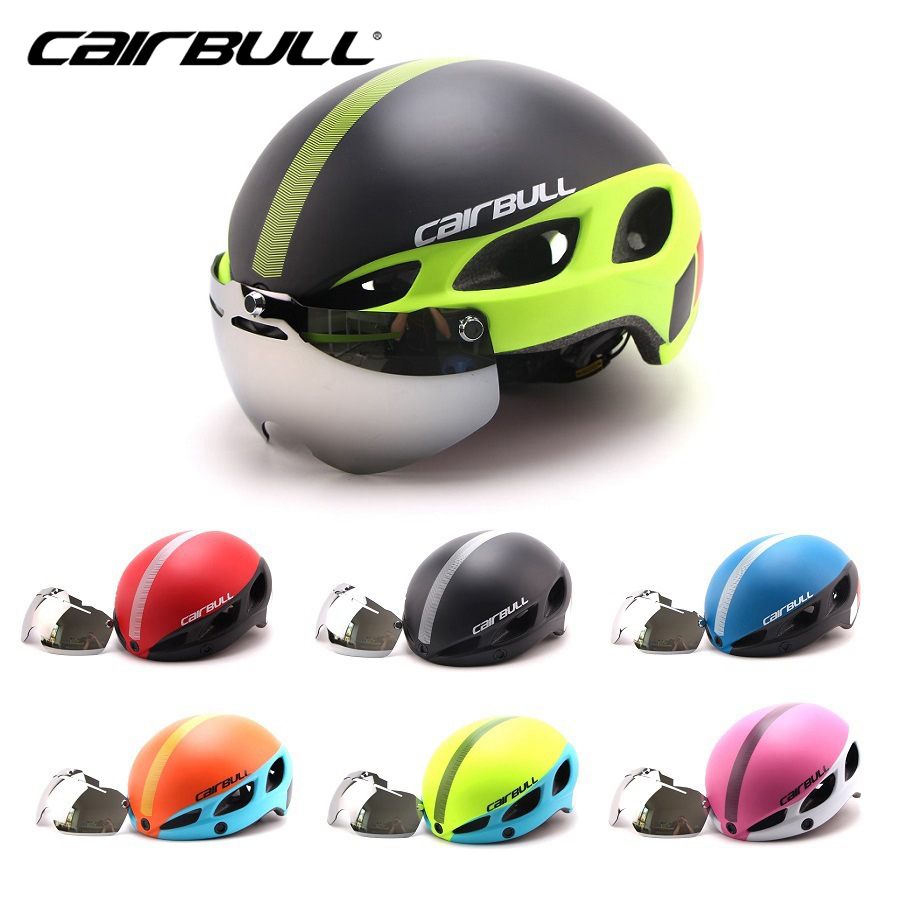 CAIRBULL Bicycle Helmet With Lenses Windproof Men Ultralight Integrally-molded 8 Vents Safe Mountain Road MTB Bike Helmet cairbull ultralight integrally molded bicycle helmet women road mountain bike mtb men cap cycling helmet casco ciclismo 15 vents