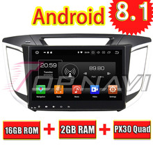 TOPNAVI Quad Core Android 8.1 Car GPS Navigation Player for Hyundai IX25 2014-2015 Car Multimedia Radio Stereo NO DVD 2 Din