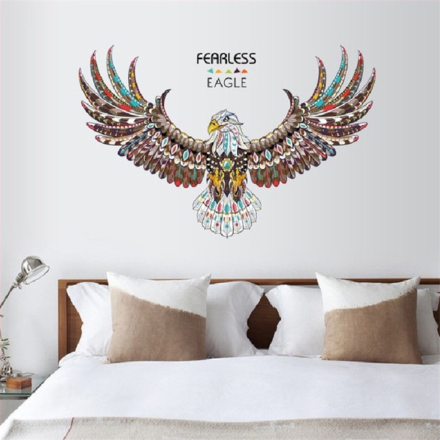 Freeless Eager Wall Stickers For Bed Room Home Decoration Background Decal Pvc Plane Animal Mural Door Diy Wallpaper Sale