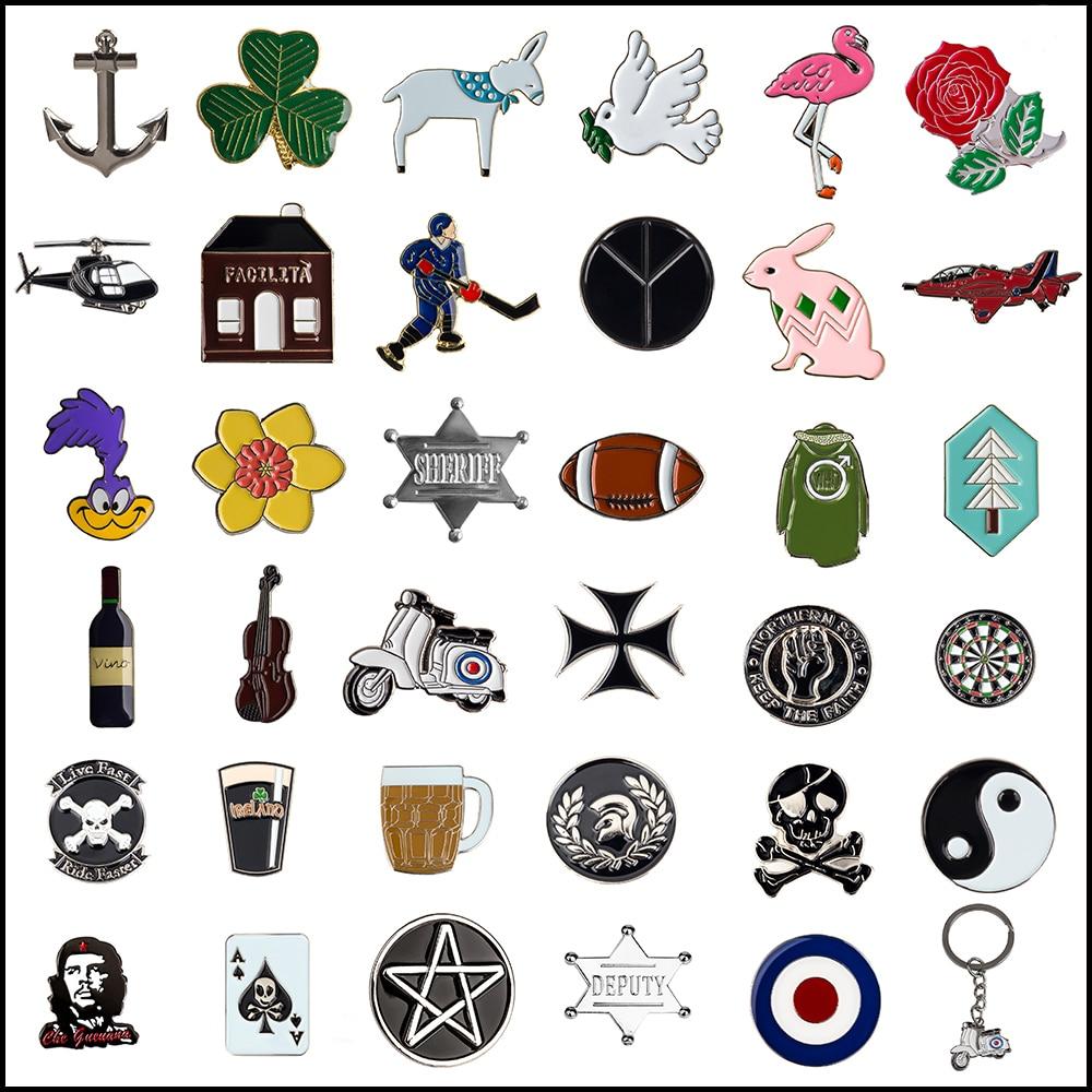 Ace Skull Ribbon Bow Lapel Pin Badge Pin Xy0066 At Any Cost Arts,crafts & Sewing