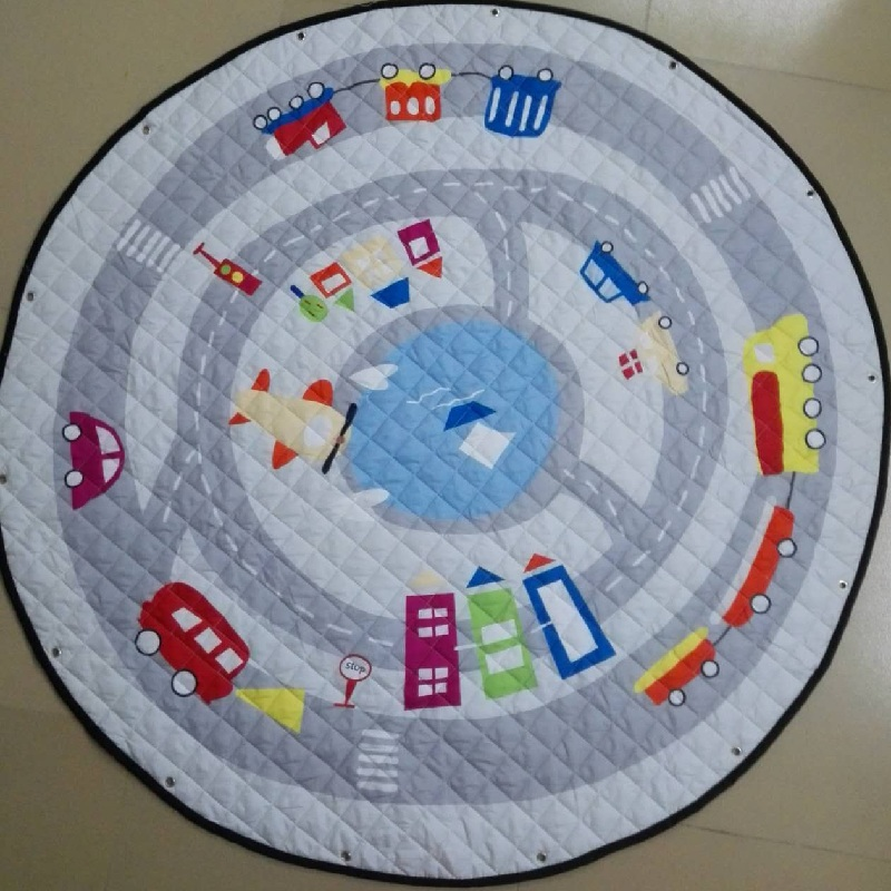 Cartoon Cars Pattern Baby Play Mats <font><b>Toy</b></font> Storage Bag Crawling Rug Carpet <font><b>For</b></font> Kids <font><b>Toys</b></font> Nordic Style Room Decor Photo Props