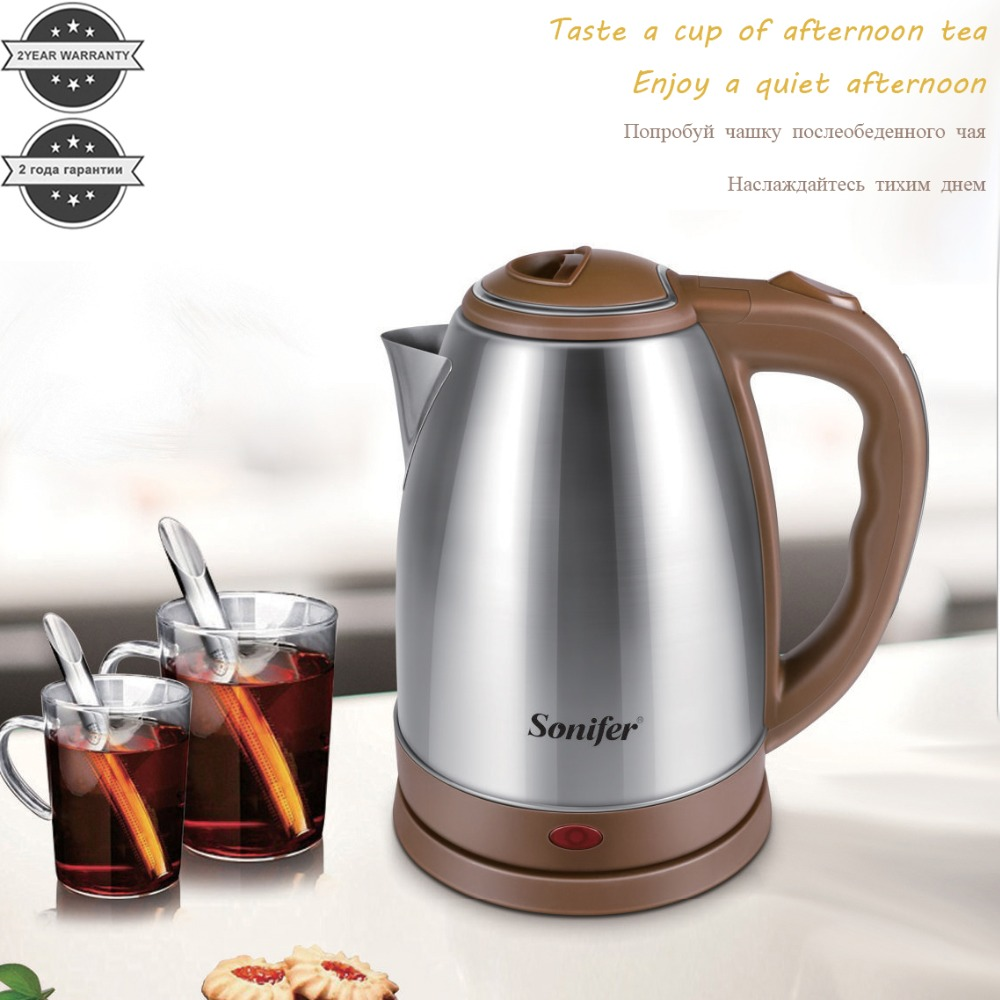1.8L 1500W Stainless Steel Electric Kettle Fast Water Heating Boiler Pot 220V