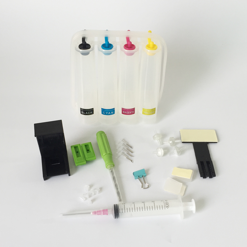 DIY CISS Ink System Kits 4-color DIY CIS Continous Ink System Tools for Canon / for HP/ for Dell / for Samsung Cartridges