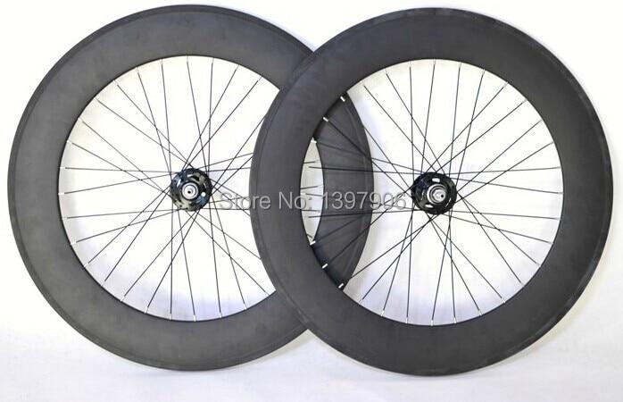 Roues en carbone roues de piste 88mm 23mm largeur roues tubulaires en carbone OEM pour piste de vélo de route moyeux novatec jantes en carbone
