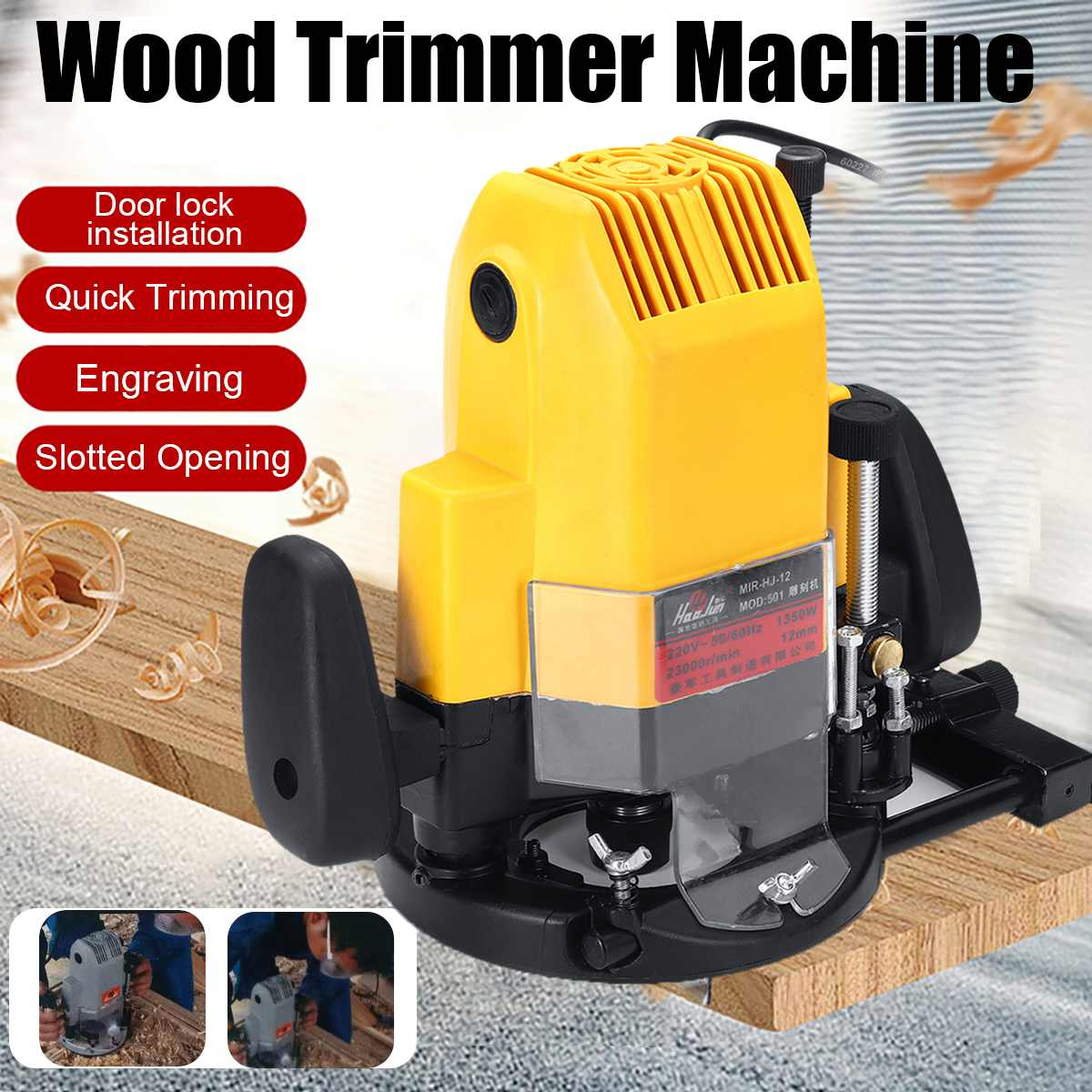 1350W 220V Electric Plunge Router 1/2 Wood Routing Machine Collet Electric Router Woodworking Trimmer Trimming Machine1350W 220V Electric Plunge Router 1/2 Wood Routing Machine Collet Electric Router Woodworking Trimmer Trimming Machine