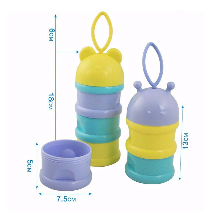 3 Layers Baby Milk Dispenser Container Storage Formula Feeding Box SS