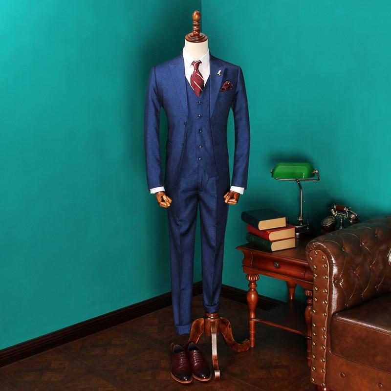 Kostume të reja të veshjes së dasmave të burrave të mbërritura - Veshje për meshkuj - Foto 1