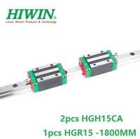 1pcs 100% HGR15 original Hiwin ferroviário-L 1800 milímetros + 2pcs HGH15CA linear blocos para cnc router