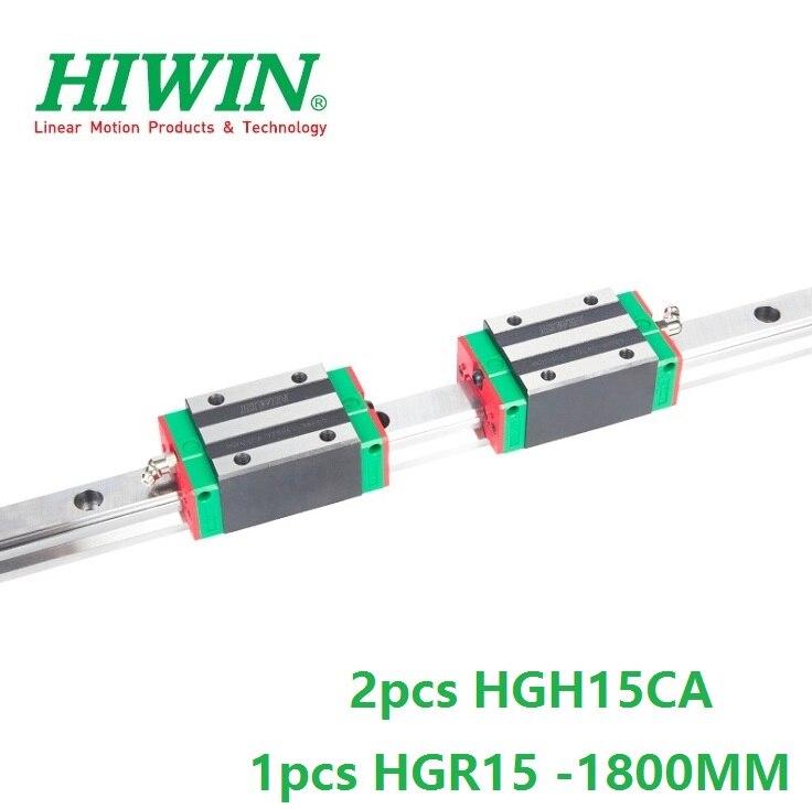 1pcs 100% original Hiwin linear rail HGR15 -L 1800mm + 2pcs HGH15CA linear narrow sliding block for cnc router1pcs 100% original Hiwin linear rail HGR15 -L 1800mm + 2pcs HGH15CA linear narrow sliding block for cnc router