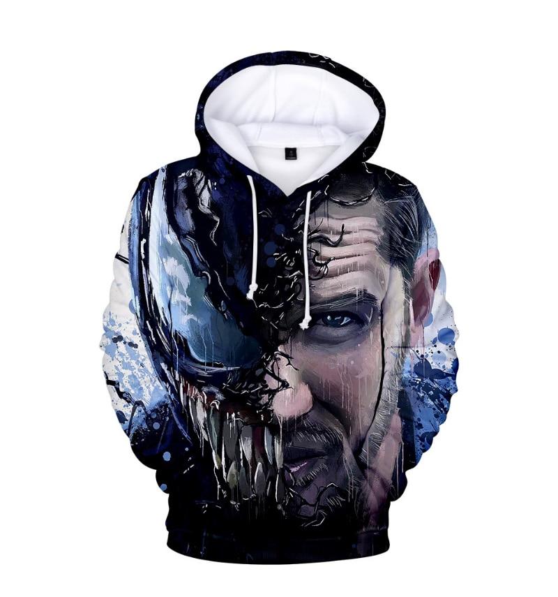 Comic Venom Hoodie Sweatshirts Men Superhero Anime Cool Black Autumn Winter Tops Plus Velvet Warm Hoody Couple Hip Hop Pullovers (13)