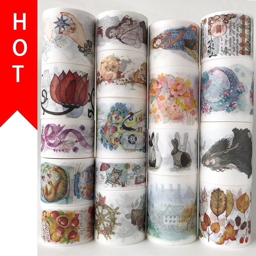 Frete grátis e cupom washi fita, washi fita, design básico, colocação opcional, preço de venda, #30003-30020, qualidade superior