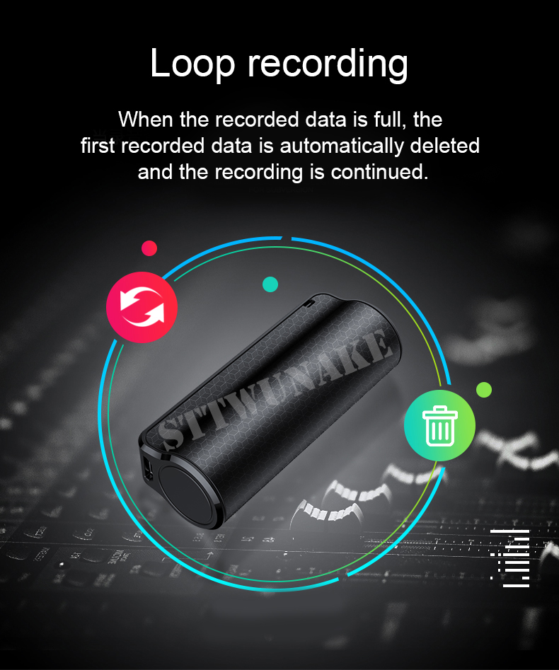 365 Standby Battery Mini Voice Activated Recorder 32GB Super Long ...