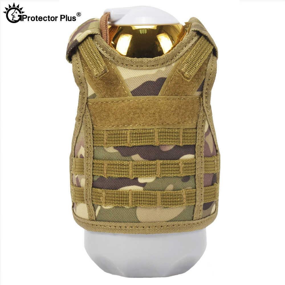 Tấm Bảo Vệ Plus Áo Chiến Thuật Lớp Quân Sự Chai Bia Bộ Mini Molle Áo Vest Săn Bắn Bình Uống Bộ Dây Đeo Vai Có Thể Điều Chỉnh