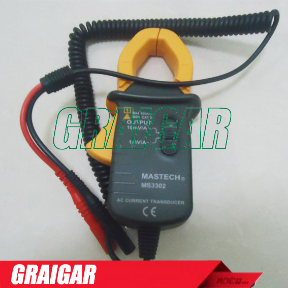 ФОТО MASTECH MS3302 AC Current 0.1A-400A Clamp Meter Transducer True RMS Free Shipping