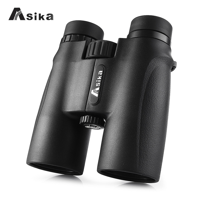 Telescope Asika 10X42 High powerful Binoculars Pocket telescopio night vision binoculo profissional camping bak4 Genuine black-in Monocular/Binoculars from Sports & Entertainment    1
