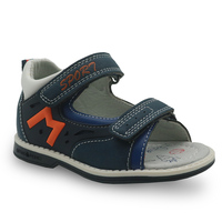 Apakowa מותג ילדים נעליים חדש 2018 קיץ בני סנדלי עור מפוצל שטוח ילדים פעוט בני אורטופדי תינוק סנדלים-בסנדלים מתוך אמהות וילדים באתר