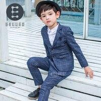 2017 Autumn Winter Boys Formal Suits for wedding 2PCS suit set Blazer Pants Gentleman Party Boy Kids Children's Clothes