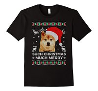 Ugly Sweater Such Christmas Much Merry Funny Doge T Shirt Men S T Shirts Summer Style