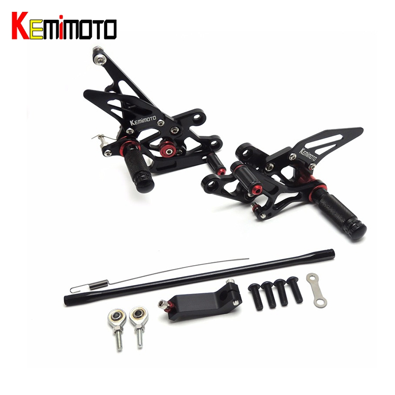 KEMiMOTO FZ1 FZ8 Adjustable Rearset Rear Set Foot rests Foot pegs For Yamaha FZ1 2006 2014