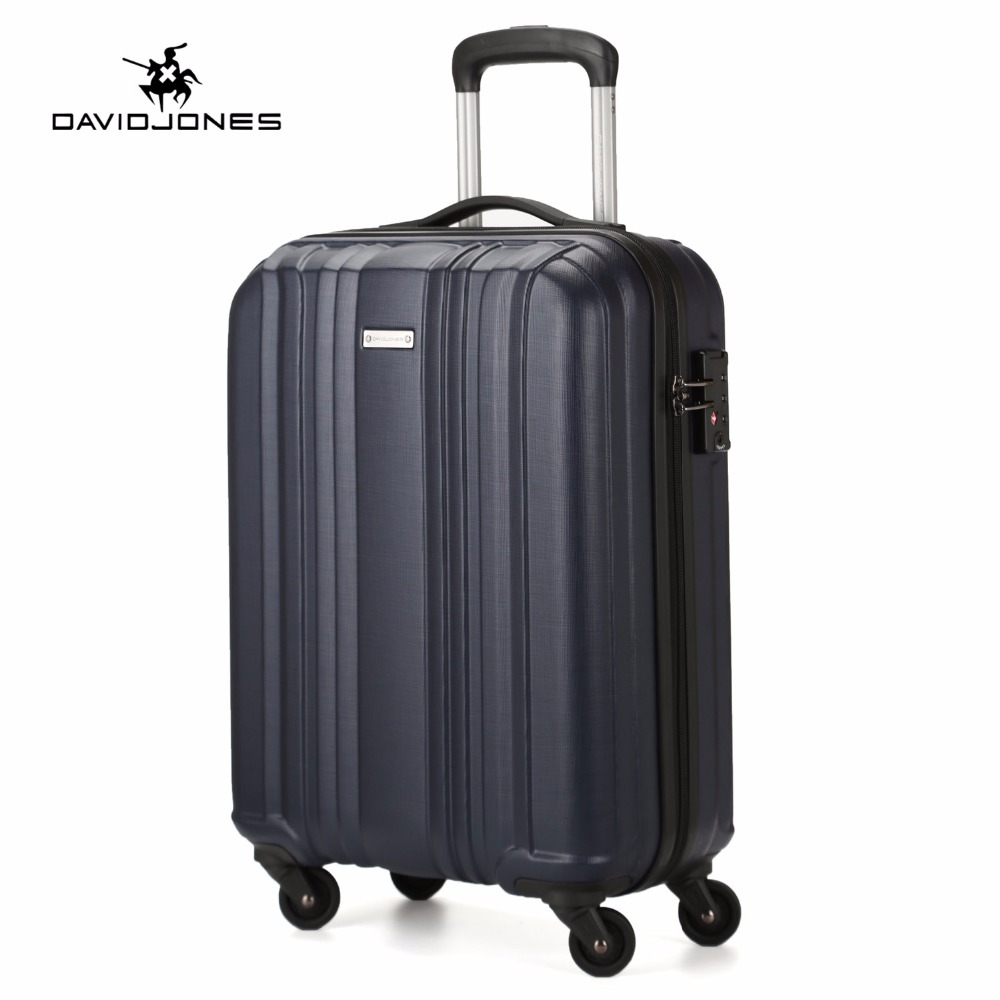 DAVIDJONES 20 inches CARRY-ON luggage hardside  vintage print trolly suitcase