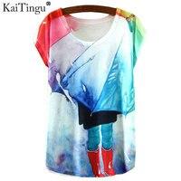 KaiTingu 2017 New Fashion Vintage Spring Summer Print T-shirt Woman Clothes Blusas Harajuku T Shirt Women Clothing Tops Tshirt
