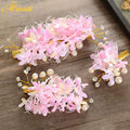 Hot selling 2 Colors Artificial Flower Hair Clips Pink ivory Princess Hairwear Women Pear Jewelry Photography Accessories SG273